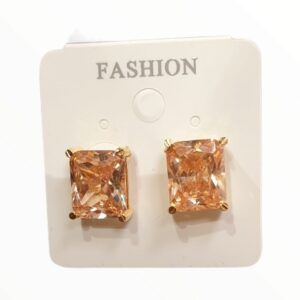 Ladies Earring - Golden Color Stone studded