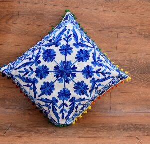 EMBROIDERED CUSHION COVER - 16 X 16
